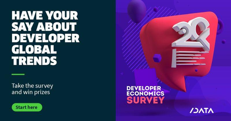 Developer Economics 20th Edition survey